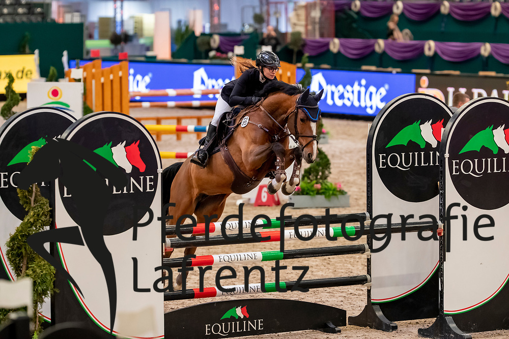 MÜRDTER Celine (GER), Cosma<br /> Leipzig - Partner Pferd 2019<br /> SPOOKS-Amateur Trophy<br /> Small Tour<br /> 17. Januar 2019<br /> © www.sportfotos-lafrentz.de/Stefan Lafrentz
