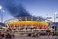 foto que fiz da Arena de Tenis no Parque Olimpico da Barra da Tijuca