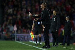 February 10, 2019 - Bilbao, Vizcaya, Spain - Gaizka Garitano of Athletic gives instructions during the week 23 of La Liga between Athletic Club and FC Barcelona at San Mames stadium on February 10 2019 in Bilbao, Spain. (Credit Image: © Jose Breton/NurPhoto via ZUMA Press)