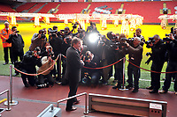 Kenny Dalglish Caretaker Manager at todays Press Conference in the famous Anfield Stadium 10/01/11<br />
