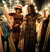 Two women looking at dresses in 'Stop the Shop', King's Road, Chelsea, London, 1971