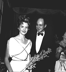 LORD COLIN GLENCONNER and his wife LADY ANNE photographed in November 1957,