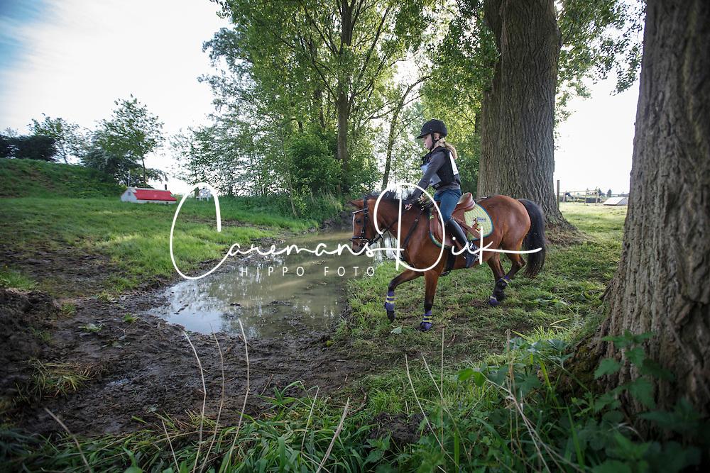 Desmedt Emma (BEL) - Skeeler<br /> Nationaal Kampioenschap Eventing Pony's <br /> LRV Gavere 2014<br /> &copy; Dirk Caremans