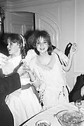 Libby Hanson; Kate Reardon, Easter disco. Hurlingham. London. 14 March 1983. SUPPLIED FOR ONE-TIME USE ONLY> DO NOT ARCHIVE. © Copyright Photograph by Dafydd Jones 248 Clapham Rd.  London SW90PZ Tel 020 7820 0771 www.dafjones.com