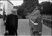 02/08/1962<br /> 08/02/1962<br /> 02 August 1962<br /> Indian Ambassador presents credentials at Aras an Uachtarain. New Indian Ambassador Mr Mohammedali Currim Chagha presented his letters of Credence to President Eamon de Valera. Picture shows the new ambassador inspecting a Guard of Honour of the 2nd Field Artillery Regiment after the ceremony. Officer of the Guard is T.V. McGrath.
