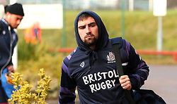 Jordan Williams of Bristol Rugby arrives at Castle Park for the fixture against Doncaster Knights - Mandatory by-line: Robbie Stephenson/JMP - 02/12/2017 - RUGBY - Castle Park - Doncaster, England - Doncaster Knights v Bristol Rugby - Greene King IPA Championship