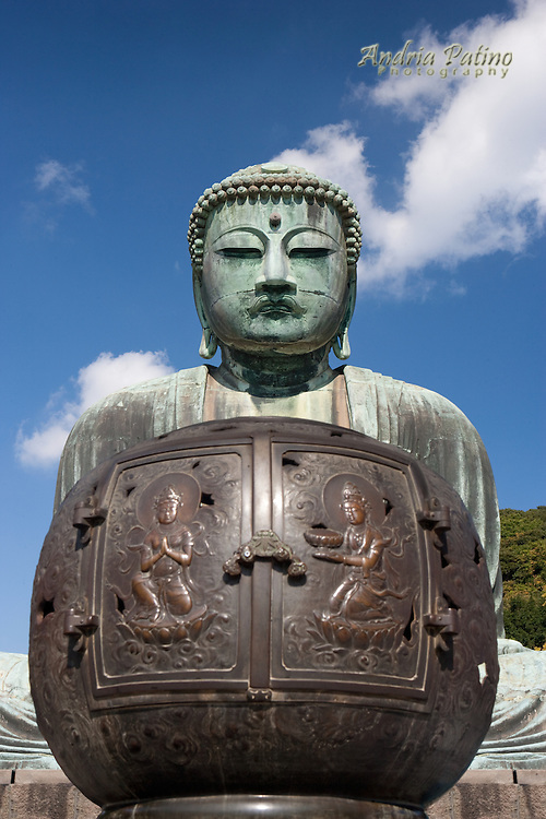 Large Incense Burner in Front of The Great Buddha of Kamakura