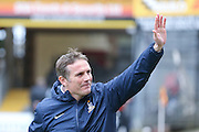 Bradford City Manager Phil Parkinson  during the Sky Bet League 1 match between Bradford City and Millwall at the Coral Windows Stadium, Bradford, England on 26 March 2016. Photo by Simon Davies.