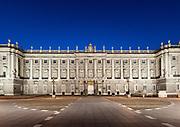 Royal Palace at night, Madrid, Spain
