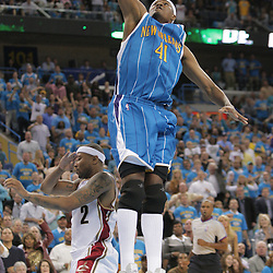 01 November 2008: New Orleans Hornets forward James Posey (41) dunks over Cleveland Cavaliers guard Mo Williams (2) during a 104-92 win by the New Orleans Hornets over the Cleveland Cavaliers at the New Orleans Arena in New Orleans, LA..