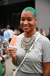 September 12, 2018 - New York, New York, United States - Celebrity/fashionista attends the Coach 1941 Runway Show during New York Fashion Week at Pier 94 on September 11, 2018 in New York City. (Credit Image: © Oleg Chebotarev/NurPhoto/ZUMA Press)