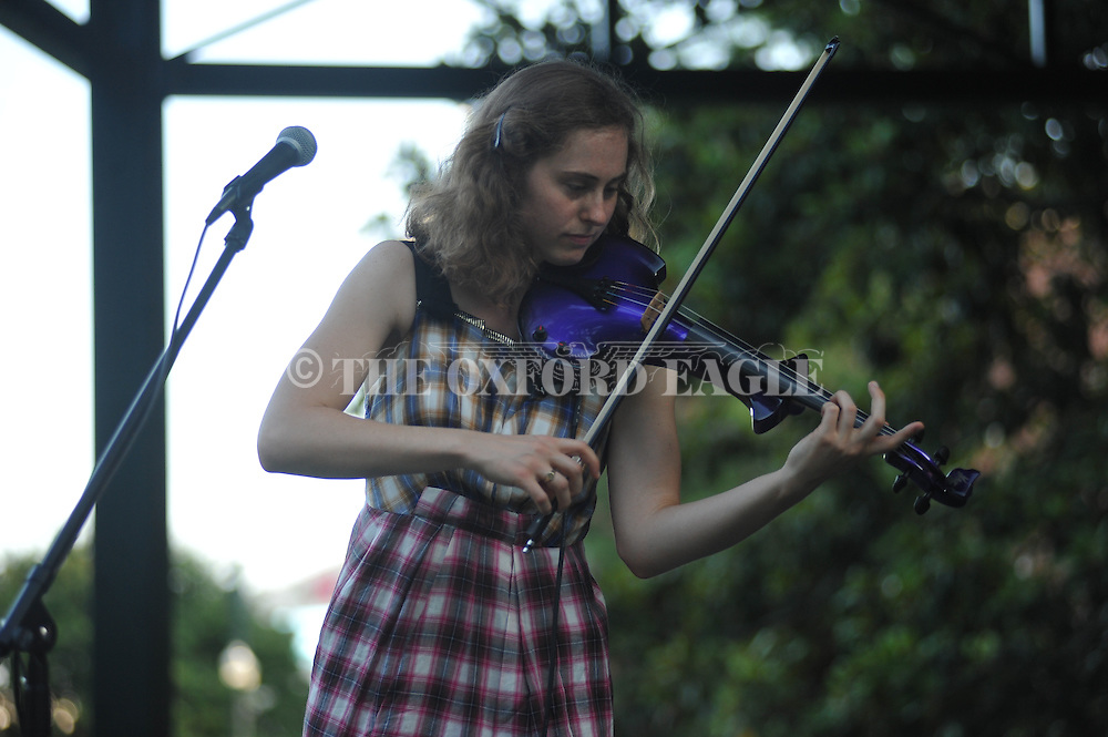 Alice Hasen of the band Black Water Trio plays the Summer Sunset Series in Oxford, Miss. on Sunday, June 7, 2015.