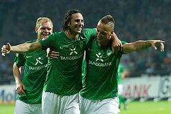 10.09.2011, Weser Stadion, Bremen, GER, 1.FBL, Werder Bremen vs Hamburger SV, im Bild.1:0 durch Claudio Pizarro (Bremen #24) Jubel .// during the Match GER, 1.FBL, Werder Bremen vs Hamburger SV on 2011/09/10,  Weser Stadion, Bremen, Germany..EXPA Pictures © 2011, PhotoCredit: EXPA/ nph/  Kokenge       ****** out of GER / CRO  / BEL ******