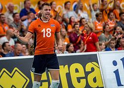 25-09-2016 NED: EK Kwalificatie Nederland - Turkije, Koog aan de Zaan<br /> Nederland plaatst zich voor het EK in Polen door Turkije met 3-1 te verslaan / Robbert Andringa #18