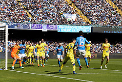 April 8, 2018 - Napoli, Napoli, Italy - Naples - Italy 08/04/2018.DRIES MERTENS of S.S.C. NAPOLI and SORRENTINO STEFANO, DEPAOLI FABIO, TOMOVIC NENAD, INGLESE ROBERTO of CHIEVO VERONA  during SERIE A  match between S.S.C. NAPOLI and CHIEVO VERONA   at Stadio San Paolo of Naples. .Final scores S.S.C. NAPOLI -CHIEVO VERONA 2-1  (Credit Image: © Emanuele Sessa/Pacific Press via ZUMA Wire)