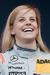 22.04.2012, Kurhaus, Wiesbaden, GER, DTM, Praesentation Wiesbaden, im Bild Susie Wolff (Persson Motorsport/ AMG Mercedes C-Coupé (2012) // during the DTM Presentation 2012, at the Kurhaus, Wiesbaden, Germany on 2012/04/22. EXPA Pictures © 2012, PhotoCredit: EXPA/ Eibner/ Ulrich Roth..***** ATTENTION - OUT OF GER *****