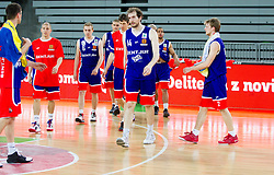 Travis Nelson of Sentjur after the basketball match between KK Union Olimpija and KK Sentjur in 4th Round of Telemach League for Slovenian National Champion 2011/12, on April 4, 2012, in Arena Stozice, Ljubljana, Slovenia. (Photo by Vid Ponikvar / Sportida.com)