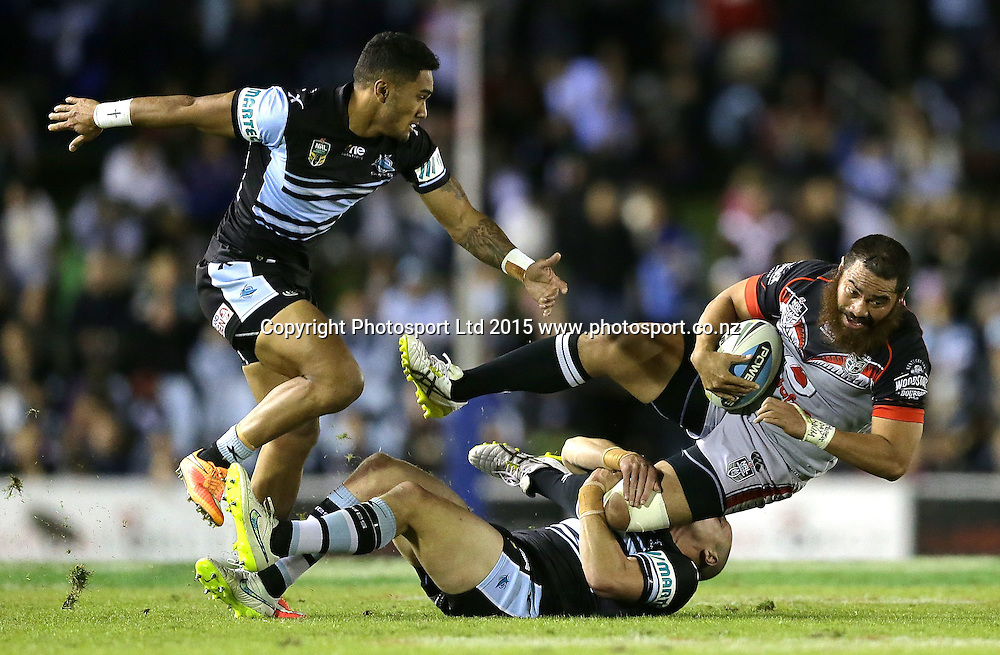 during the NRL Rugby League match between the Cronulla Sharks and the Vodafone Warriors at Remondis Stadium, Sydney, Australia. Saturday 9 May 2015. Copyright Photo: Mark Metcalfe / www.Photosport.co.nz