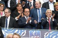 Noel LE GRAET / Francois Hollande / Claude Bartolone - 30.05.2015 - Auxerre / Paris Saint Germain - Finale Coupe de France<br />Photo : Andre Ferreira / Icon Sport