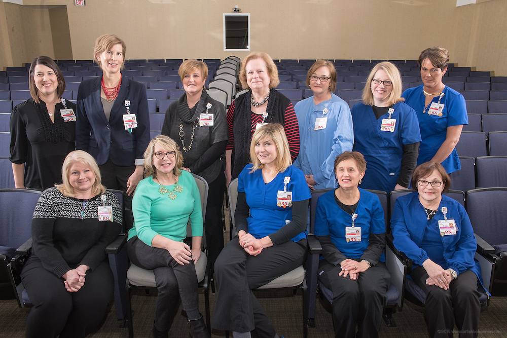 Research and EBP project participants for the nursing annual report, photographed Friday, Feb. 12, 2016 at Baptist Health in Louisville, Ky. (Photo by Brian Bohannon)
