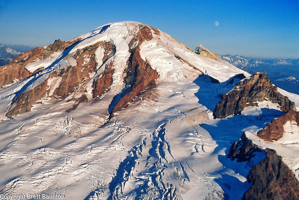 Mt. Baker, Aerial, Moon, Glaciers