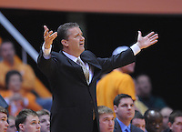 Mar 16, 2013; Knoxville, TN, USA; Kentucky Wildcats head coach John Calipari during the first half against the Tennessee Volunteers at Thompson-Boling Arena. Mandatory Credit: Randy Sartin-USA TODAY Sports