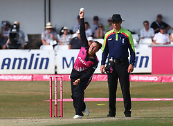 July 1, 2018 - London, Greater London, United Kingdom - Hayley Jensen of New Zealand Women.during International Twenty20 Final match between England Women and New Zealand Women  at The Cloudfm County Ground, Chelmsford, England on 01 July 2018. (Credit Image: © Kieran Galvin/NurPhoto via ZUMA Press)