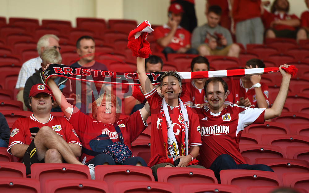 Bristol City supporters in their new seats at the South Stand, Ashton Gate - Mandatory by-line: Paul Knight/JMP - Mobile: 07966 386802 - 15/08/2015 -  FOOTBALL - Ashton Gate Stadium - Bristol, England -  Bristol City v Brentford - Sky Bet Championship