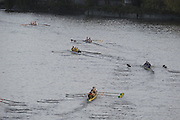 London, Great BritainGeneral view as crews move away from the start at the 2009 Veterens Fours of the River Race, raced over the Championship Course, Mortlake to Putney, on the River Thames.   Sunday, 15/11/2008. [Mandatory Credit: Peter Spurrier /Intersport Images]