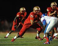 Lafayette High's Eli Johnson (75) vs. Memphis University School in Oxford, Miss. on Friday, September 27, 2013. MUS won.