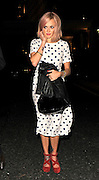 05.SEPTEMBER.2011. LONDON<br /> <br /> FEARNE COTTON LEAVING THE SAVOY HOTEL IN CENTRAL LONDON AFTER ATTENDING AN EVENING OF COMEDY AND MUSIC IN AID OF FREDDIE MERCURY'S 65TH BIRTHDAY CELEBRATIONS.<br /> <br /> BYLINE: EDBIMAGEARCHIVE.COM<br /> <br /> *THIS IMAGE IS STRICTLY FOR UK NEWSPAPERS AND MAGAZINES ONLY*<br /> *FOR WORLD WIDE SALES AND WEB USE PLEASE CONTACT EDBIMAGEARCHIVE - 0208 954 5968*
