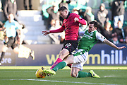Lewis Stevenson tackles Callum McGregor during the Ladbrokes Scottish Premiership match between Hibernian and Celtic at Easter Road, Edinburgh, Scotland on 10 December 2017. Photo by Kevin Murray.