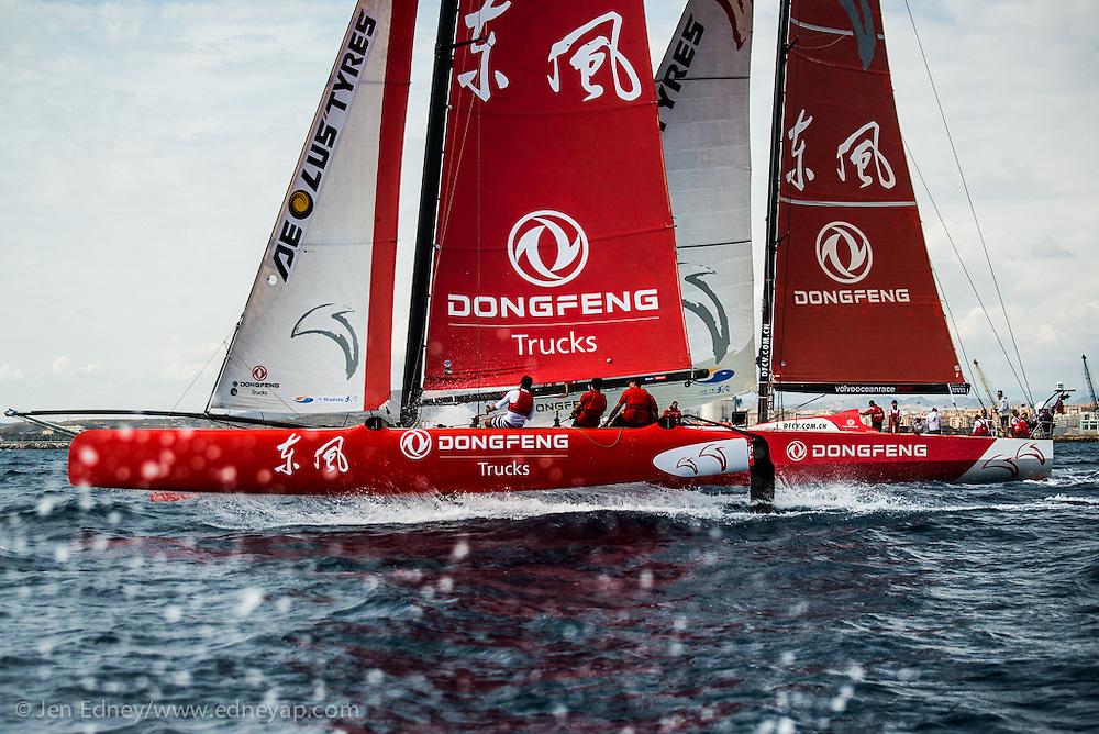 Volvo Ocean Race 2014-2015 Leg One in Alicante, Spain - Team Dongfeng