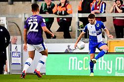 Luke Leahy of Bristol Rovers is marked by Kane Wilson of Tranmere Rovers - Mandatory by-line: Ryan Hiscott/JMP - 20/08/2019 - FOOTBALL - Memorial Stadium - Bristol, England - Bristol Rovers v Tranmere Rovers - Sky Bet League One