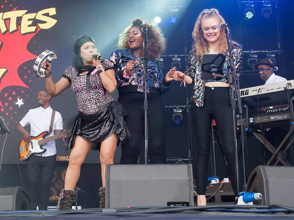 Annabella Lwin in concert at Lets Rock Scotland, Dalkeith Country Park, Edinburgh, Great Britain 23rd June 2018