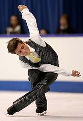 London, Ontario ---10-01-15--- Louis-Philippe Sirois skate his short program at the 2010 BMO Canadian Figure Skating Championships in London, Ontario, January 15, 2010. .GEOFF ROBINS/Mundo Sport Images..