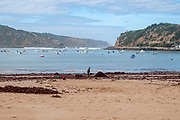 Bay of Sao Martinho do Porto  is a freguesia (civil parish) in Alcobaça Municipality, in Oeste Subregion of Portugal. Local residents collect the seaweed that was washed ashore