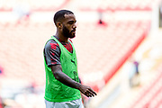 Arsenal forward Lacazette (9) during the FA Community Shield match between Arsenal and Chelsea at Wembley Stadium, London, England on 6 August 2017. Photo by Sebastian Frej.