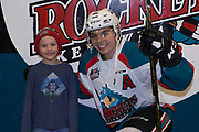 KELOWNA, CANADA - MARCH 07:  Home Hardware Stick Boy with Nick Merkley #10 of the Kelowna Rockets at the Kelowna Rockets game on March 07, 2017 at Prospera Place in Kelowna, British Columbia, Canada.  (Photo By Cindy Rogers/Nyasa Photography,  *** Local Caption ***