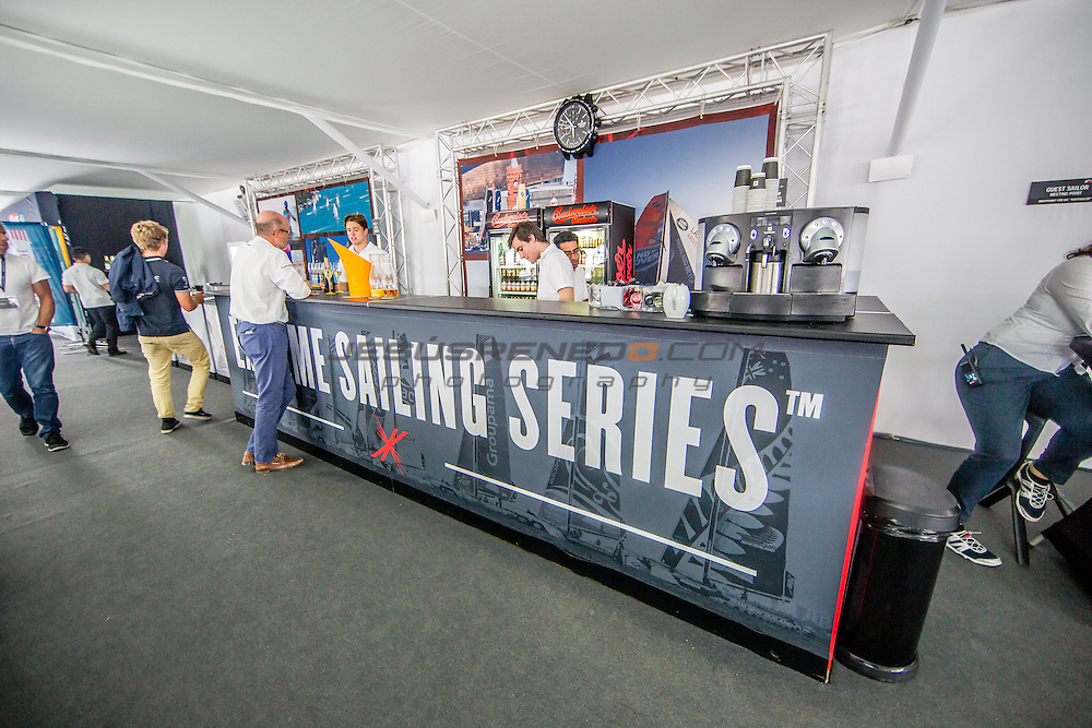 2015 Extreme Sailing Series - Act 5 - Hamburg<br /> Crowd and venue at ESS Hamburg<br /> Credit Jesus Renedo