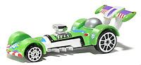 green toy racing car