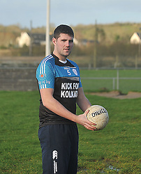 1616 gaa clubs, across 32 counties, Kicking a point in each one to raise money and awareness for the Hope foundation working in Calcutta in India, Kevin O'Riordan from Tipperary pictured at Westport GAA club on his Kick for Kolkata challenge in aid of the Hope Foundation.<br /> Pic Conor McKeown