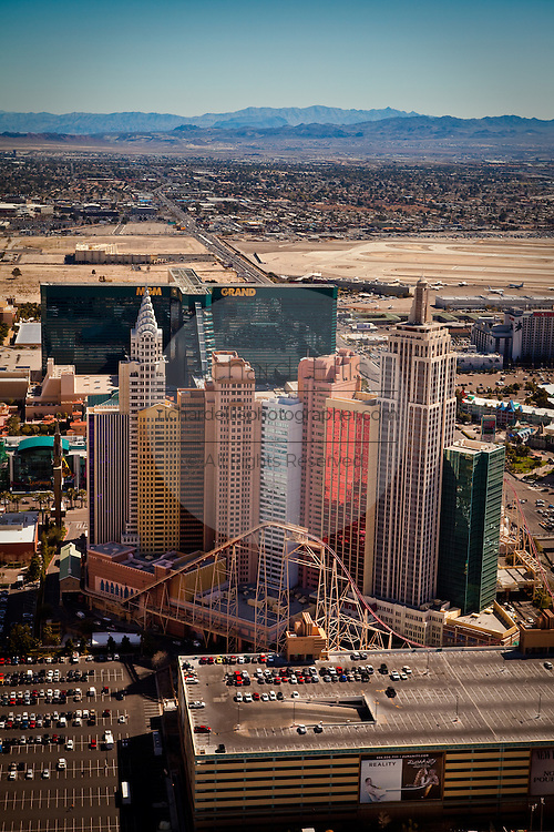 Aerial view of New York New York casino Las Vegas, Nevada