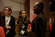 ISABEL MORRIS; PEARL MORRIS; DENNIS MORRIS, Zaha Hadid and Triflow Concepts host the launch of a pioneering new kitchen and bathroom lifestyle. 46 Portland Place. London. 28 January 2009 *** Local Caption *** -DO NOT ARCHIVE-© Copyright Photograph by Dafydd Jones. 248 Clapham Rd. London SW9 0PZ. Tel 0207 820 0771. www.dafjones.com.<br /> ISABEL MORRIS; PEARL MORRIS; DENNIS MORRIS, Zaha Hadid and Triflow Concepts host the launch of a pioneering new kitchen and bathroom lifestyle. 46 Portland Place. London. 28 January 2009