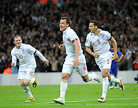England/Ukraine 2010 FIFA World Cup Qualifier 01.04.09<br /> Photo Tim Parker Fotosports International<br /> John Terry England celebrates 2nd goal with team mates