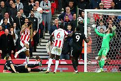 Eric Maxim Choupo Moting of Stoke City scores his sides second goal   - Mandatory by-line: Matt McNulty/JMP - 09/09/2017 - FOOTBALL - Bet365 Stadium - Stoke-on-Trent, England - Stoke City v Manchester United - Premier League
