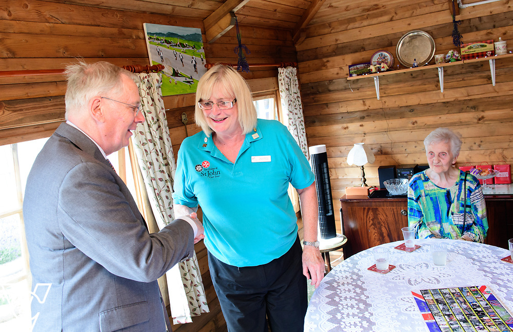Visit by HRH The Duke of Gloucester to Boultham Park House, Lincoln.<br /> <br /> Date: July 6, 2017