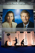 The IFA (Internationale Funkausstellung) in Berlin is the World's biggest trade fair for consumer electronics..ARD - das Erste, Germany's biggest state television channel, occupies Hall 2. Ad poster with Ulrich Wickert + Anne Will.