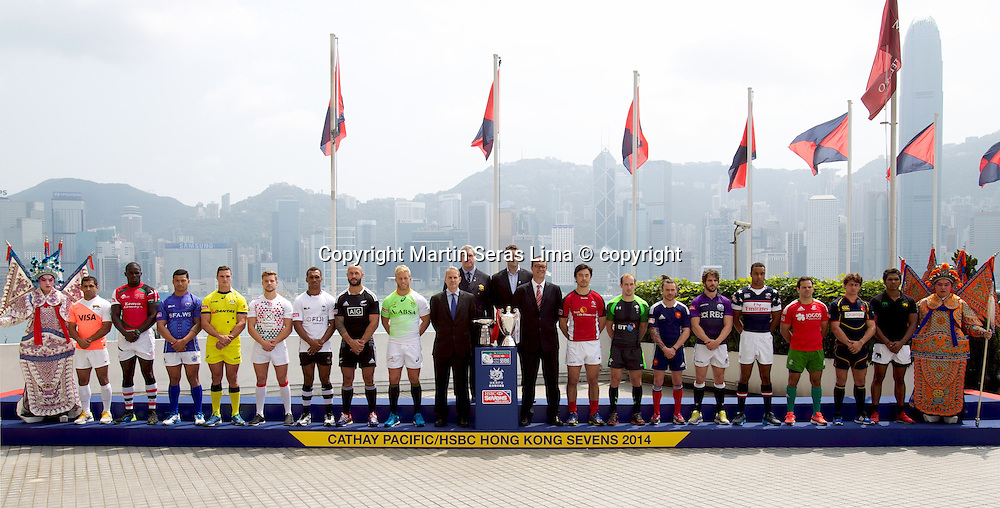 Captains at Hong Kong Sevens 2014 - Hong Kong Stadium - IRB - HSBC Sevens World Series - Photo Martin Seras Lima