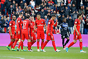 Marco Verratti (psg) scored the second goal and celebrated it with Maxwell Scherrer Cabelino Andrade (psg), Marcos Aoas Correa dit Marquinhos (PSG), Julian Draxler (PSG), Lucas Rodrigues Moura da Silva (psg), Thiago Silva (PSG), Edinson Roberto Paulo Cavani Gomez (psg) (El Matador) (El Botija) (Florestan), Lyes HOURI (SC Bastia) during the French championship Ligue 1 football match between Paris Saint-Germain (PSG) and Bastia on May 6, 2017 at Parc des Princes Stadium in Paris, France - Photo Stephane Allaman / ProSportsImages / DPPI